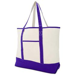 "DALIX 22"" Extra Large Shopping Tote Bag w Outer Pocket in Pu"