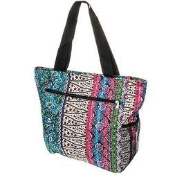 SILVERHOOKS NEW Womens Boho Patchwork Beach Tote Bag