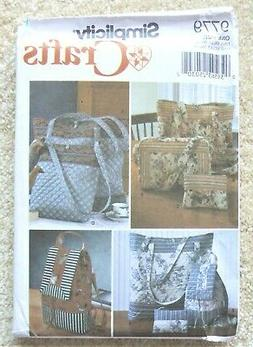 SIMPLICITY SEWING PATTERN #9779 TOTES/BACKPACK/PURSE/COSMETI
