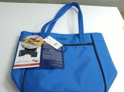 American Tourister Skylite Shopper Blue Cobalt Luggage Tote