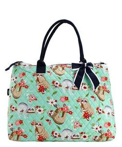 Sloth NGIL® Quilted Purse Overnight/Large Tote Bag Free Shi