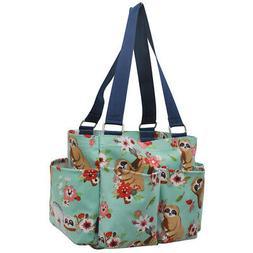Sloth NGIL® Small Zippered Caddy Organizer Tote Bag