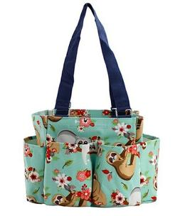 Sloth NGIL Small Zippered canvas purse Caddy Organizer Tote