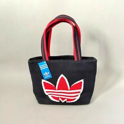 Small Adidas trefoil sweater knit tote bag purse
