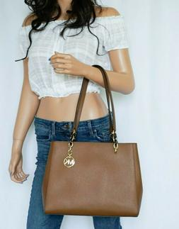 sofia large saffiano leather shoulder tote bag