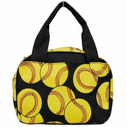 Softball Print NGIL Insulated Lunch Tote Bag