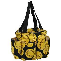 Softball NGIL® Small Zippered Caddy Organizer Tote Bag