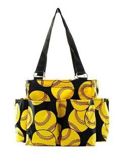 Softball NGIL Small Zippered canvas purse Caddy Organizer To