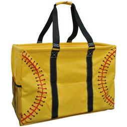 Softball Yellow NGIL® Mega Shopping Utility Tote Bag