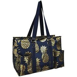Southern Pineapple Print NGIL Large Zippered Caddy Organizer