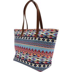 Southwest Native American Indian Print Style Handbag Purse D