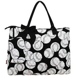 Sport Themed Prints NGIL Quited Overnight Tote Bag Baseball