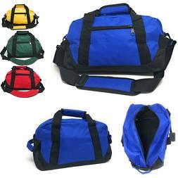 "Sports 14"" Duffle Duffel Bags School Travel Gym Locker Carry"