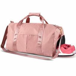 Sports Gym Bag, Travel Duffel Bag Tote Swim Bag with Wet Poc