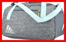 adidas Squad III Duffel Bag, One Size, Clear Aqua/Onix/Sun G