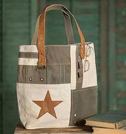 Star Patchwork Tote Bag