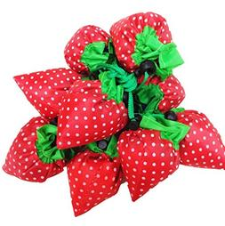 DGQ Strawberry Reusable Grocery Bags Assorted Color Shopping