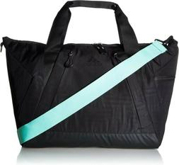 Adidas Studio II Duffel Tote Bag, Black/Black/Easy Green, On