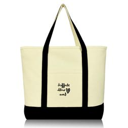 DALIX Stuffed With Love Shoulder Travel Tote Bag