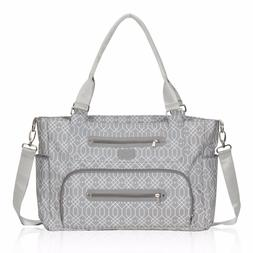 Style Mummy Baby Diaper Bag Tote Outdoor Nappy Feeder Bottle