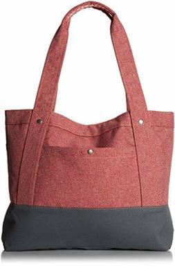 Everest Stylish Tablet bag Tote , Coral, One Size Shoulder P