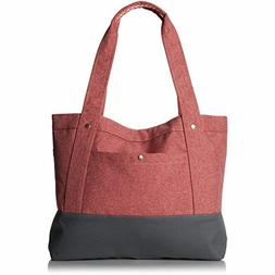 Everest Stylish Tablet Tote Bag - Coral / Gray