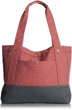 Everest Stylish Tablet Tote Bag, Coral, One Size