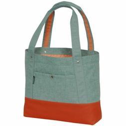 Everest Stylish Tablet Tote Bag - JADE / ORANGE