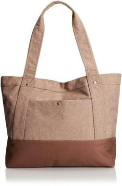 Everest Stylish Tablet Tote Bag - TAN / DARK BROWN