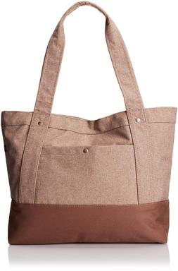 Everest Stylish Tablet Tote Bag - TAN / DARK BROWN
