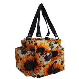 Sunflower Cowhide NEW NGIL Small Zippered canvas purse Caddy
