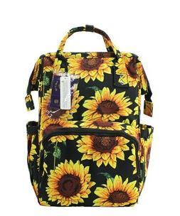 Sunflower NGIL Diaper Bag Baby Kids Toddler Mom Bag Backpack