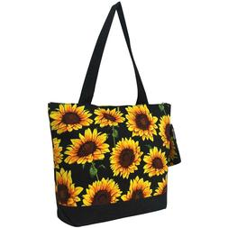 Sunflower Flower Purse Totebag w/attached coin bag NGIL NWT