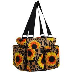Sunflower Leopard NEW NGIL Small Zippered canvas purse Caddy