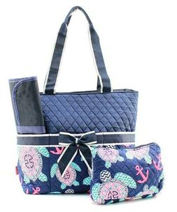 NGIL Super Cute Quilted 3pcs Under The Sea Turtle  Diaper Ba