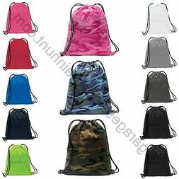 Sweatshirt Fleece Drawstring Bag Backpack Cinch Sack Gym Tot