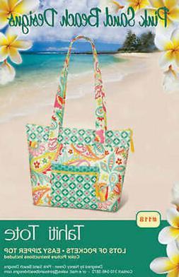 Pink Sand Beach Designs Tahiti Tote Bag Pattern