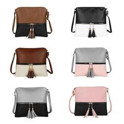 Tassel Messenger Bags Handbag Shoulder Bag Women PU Leather