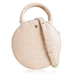 The Lovely Tote Co. Women's Fashion Crocodile Circle Crossbo