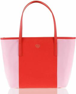 The Lovely Tote Co. Women's Color Block Open Tote Bag Brig