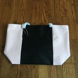 The Lovely Tote Co. Women's PU Color Block Open Tote Bag B
