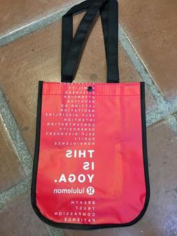 Lululemon This is Yoga Reusable Tote Bag Eco Red Small Yoga