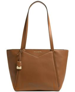 Michael Kors Top Zip Leather Tote Bag Luggage Whitney Should