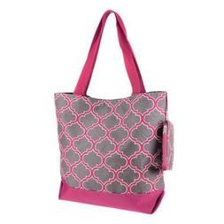 Pink Ever Moda Cross Tote Bag