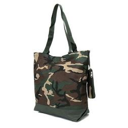 "Ever Moda Tote Bag - 18""- Tote Bag CAMO Green Brown"