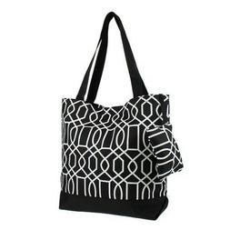 "Ever Moda Tote Bag - 18""- Tote Geometric Black"