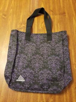 Adidas Tote Bag 2 Handle Zip Top Nwot Purple Black Cute!