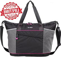 Gym Bag- Yoga Bag- Gym Yoga Tote Bag for Women with Roomy Po