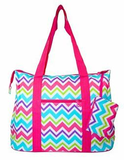 Ever Moda Pink Multicolor Tote Bag X-Large 21-inch