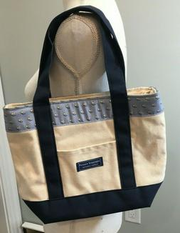 Vineyard Vines Tote Bag Custom Collection Canvas Eagles Blue